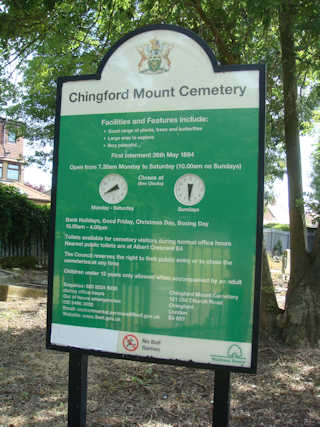 photo of Chingford Mount Cemetery